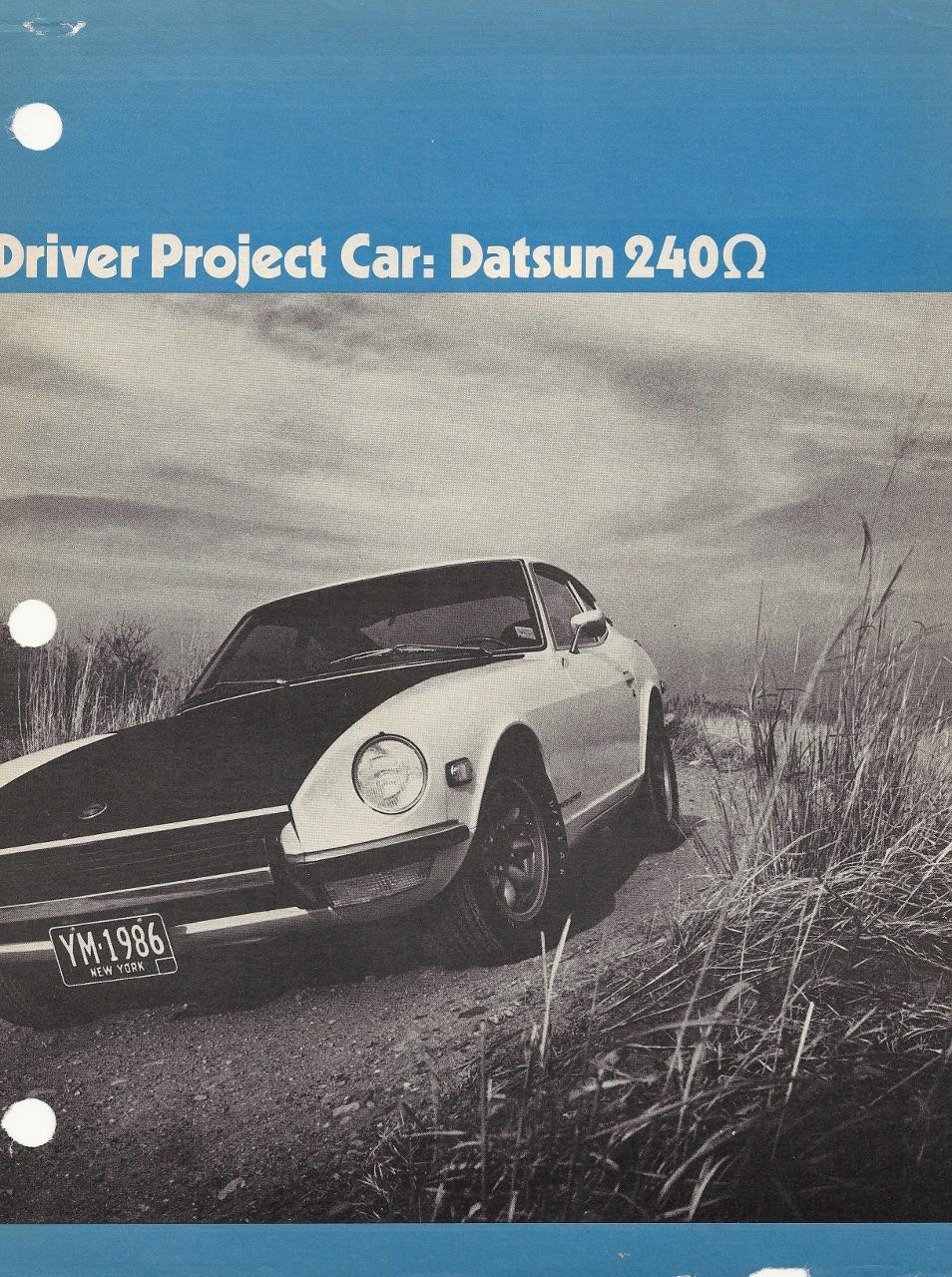 Vintage Magazines – Car & Driver\'s Datsun 240Z Omega | Oversteer Garage