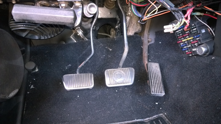 repaired pedal cluster